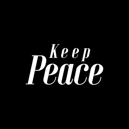 KEEP PEACE Decal Sticker