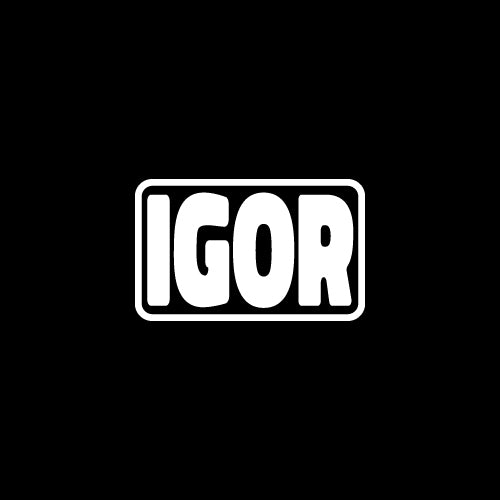 IGOR TEXT Decal Sticker