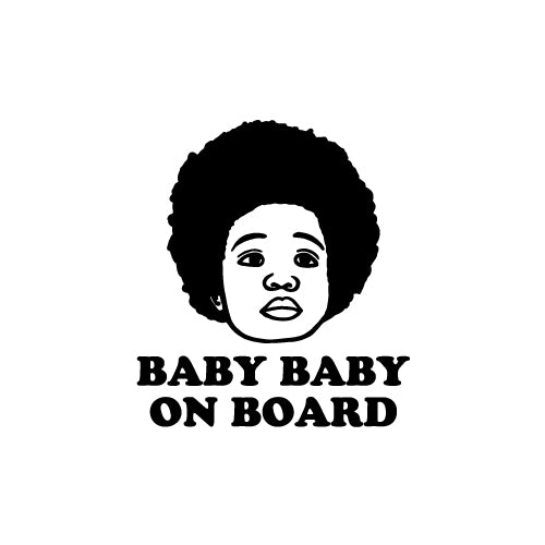 BABY BABY ON BOARD Decal Sticker