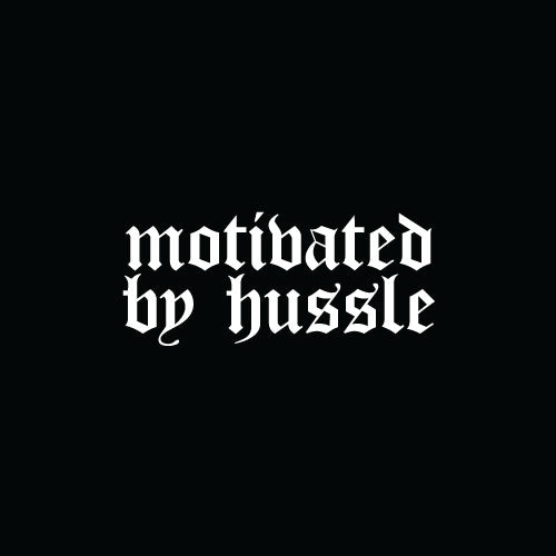 MOTIVATED BY HUSSLE Decal Sticker