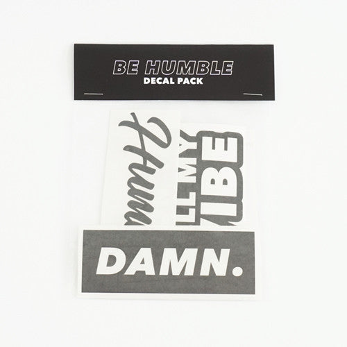 BE HUMBLE Decal Sticker Pack - 5 Vinyl Stickers Included!