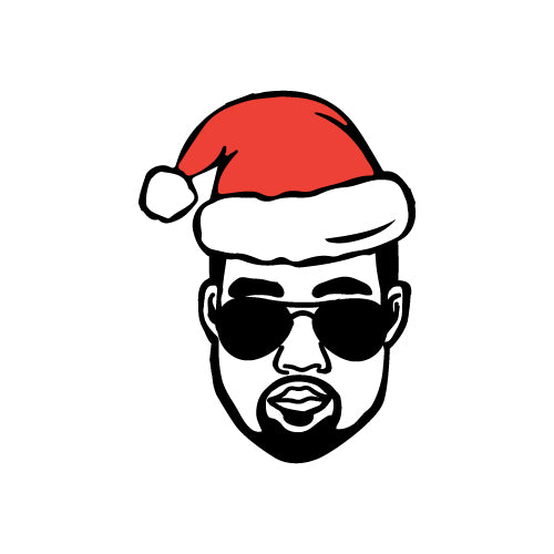 CHRISTMAS HAT KANYE WEST Decal Sticker