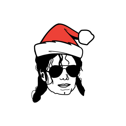 CHRISTMAS HAT MICHAEL JACKSON Decal Sticker