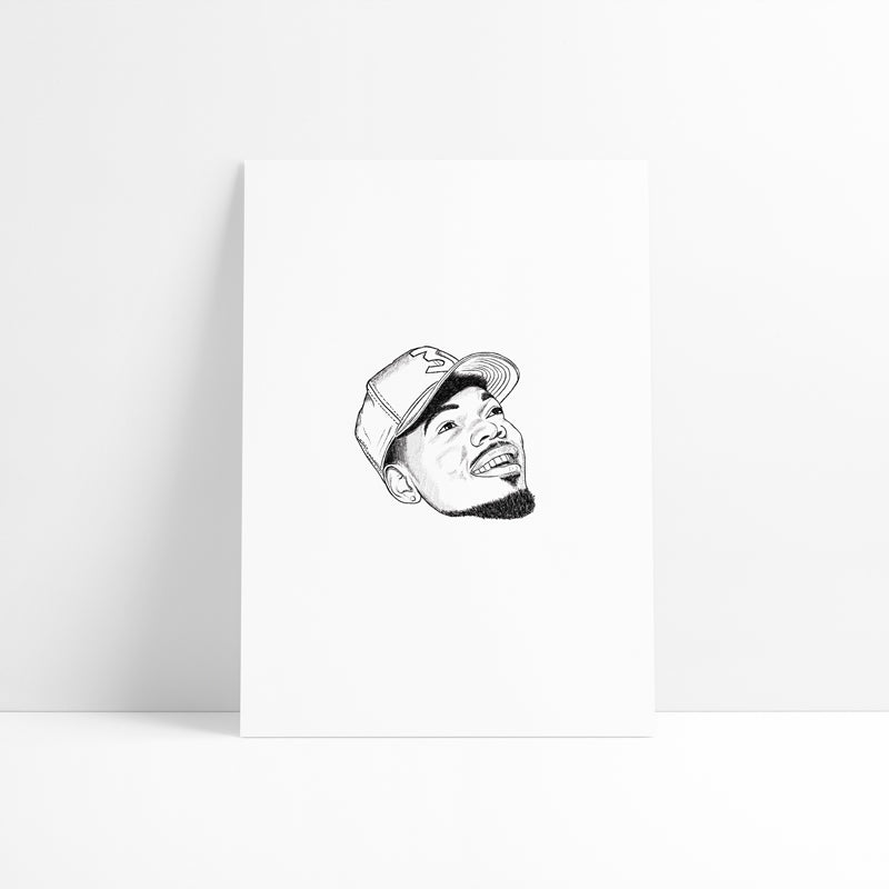 Chance The Rapper Printed Artwork