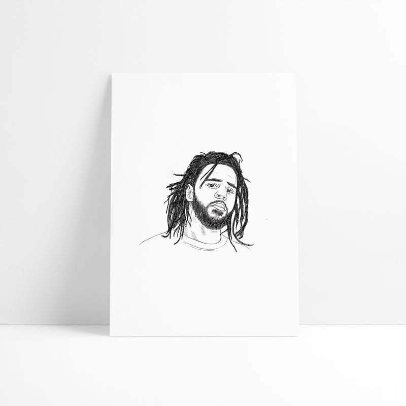 J. Cole Printed Artwork