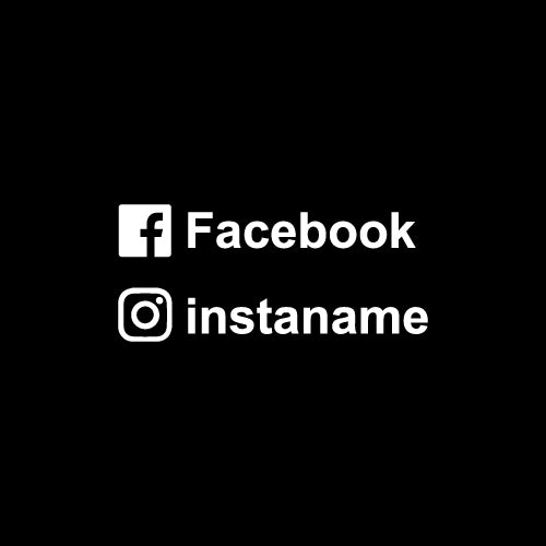 Personalised instagram facebook name decal sticker