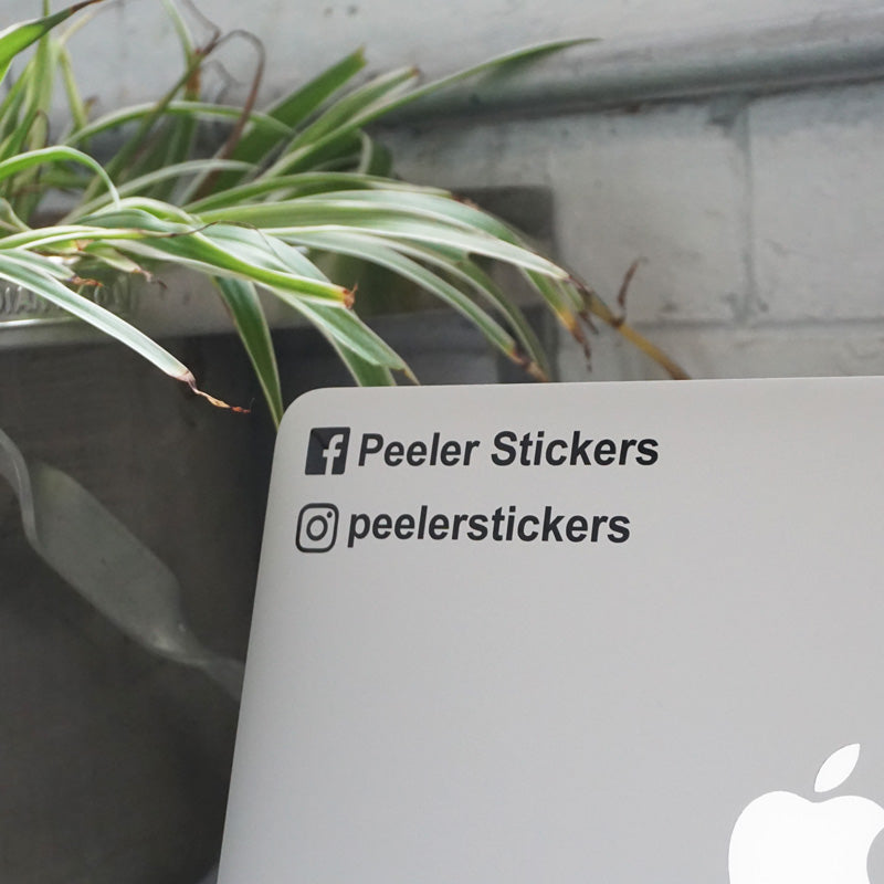 PERSONALISED INSTAGRAM USERNAME OR FACEBOOK NAME Decal Sticker