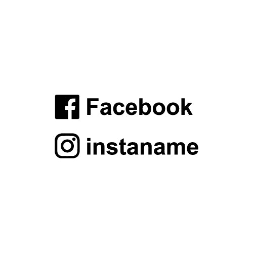 PERSONALISED INSTAGRAM & FACEBOOK NAME Decal Sticker
