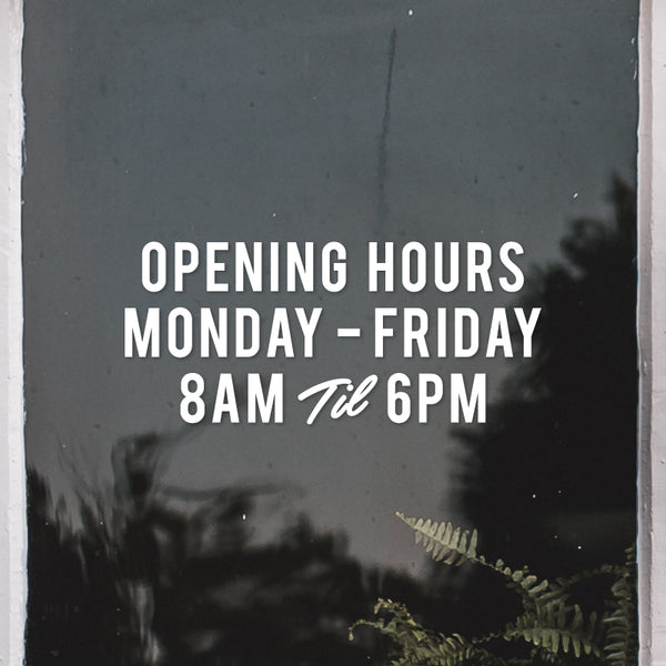 PERSONALISED Opening Hours Day and Time Decal Sticker