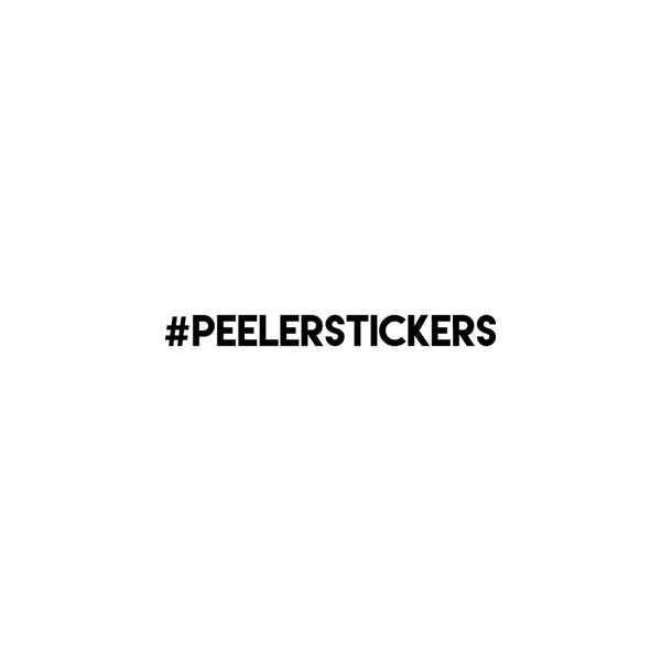 PERSONALISED HASHTAG Decal Sticker