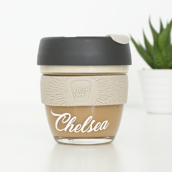 PERSONALISED Coffee Cup Text Decal Sticker