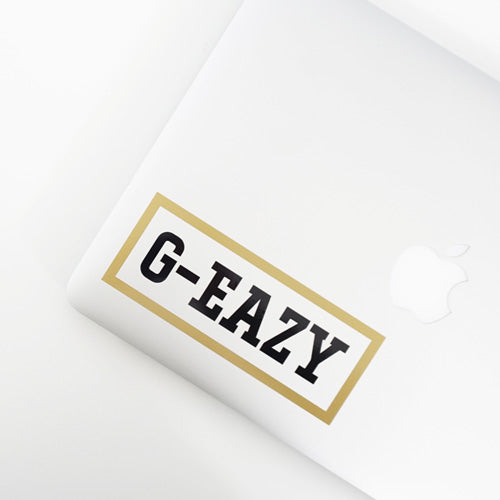 PERSONALISED Rapper Name Decal Sticker