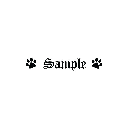 PERSONALISED PET NAME BOWL 2 PAWS Decal Sticker - Pet Stickers Australia