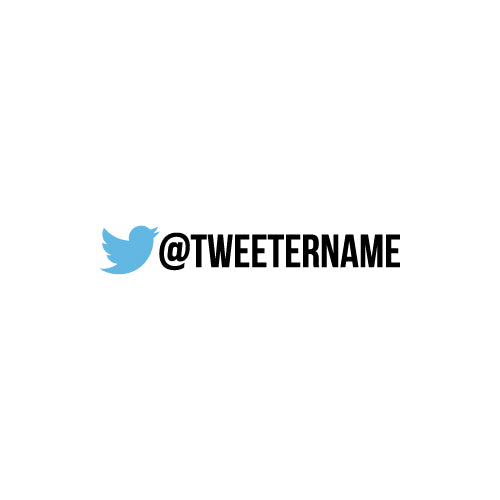 PERSONALISED TWITTER NAME Decal Sticker