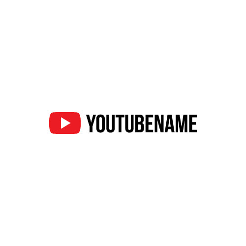 PERSONALISED YOUTUBE NAME Decal Sticker