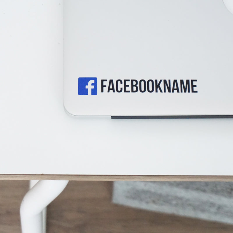 PERSONALISED FACEBOOK NAME Decal Sticker