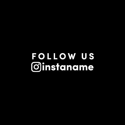PERSONALISED FOLLOW US INSTAGRAM NAME Decal Sticker