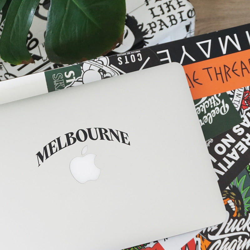 PERSONALISED CITY NAME ARCH Laptop Decal Sticker