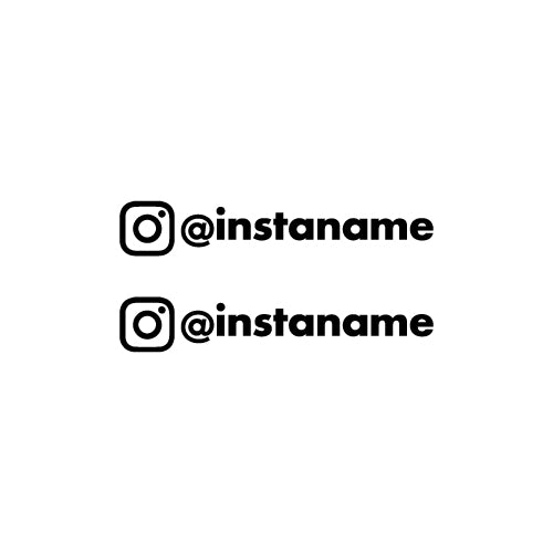 x2 PERSONALISED INSTAGRAM USERNAME Car Decal Sticker