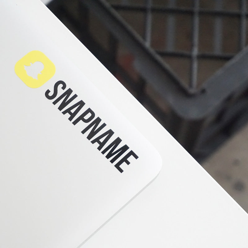 PERSONALISED SNAPCHAT USER NAME Decal Sticker