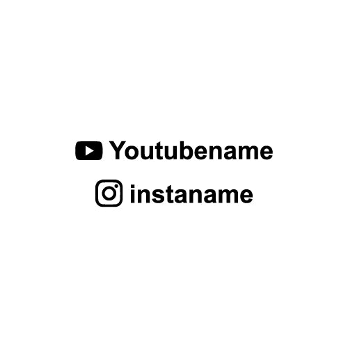 PERSONALISED INSTAGRAM USERNAME OR YOUTUBE USERNAME Decal Sticker