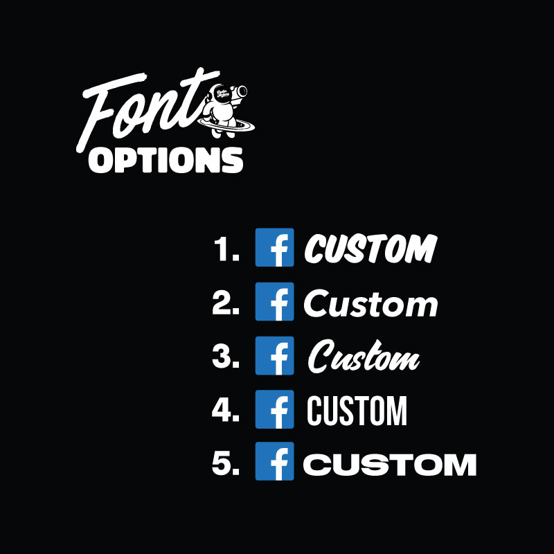 Custom Facebook Logo Stickers