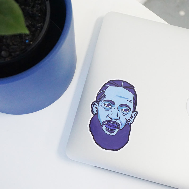 Nipsey Blue Printed Sticker