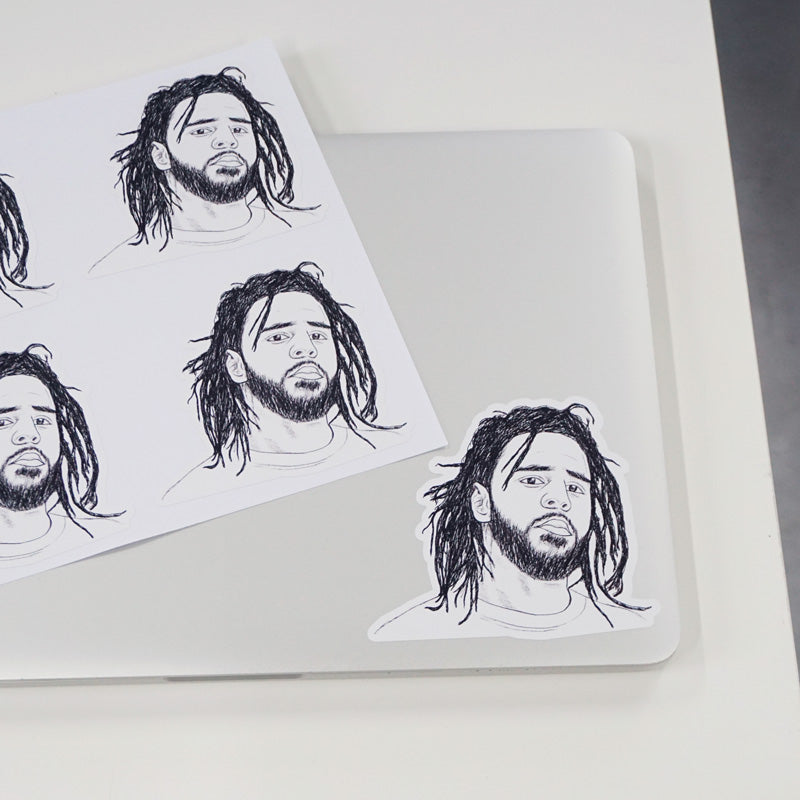 J.Cole Printed Sticker