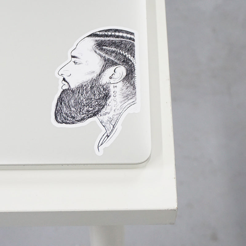 Nipsey Printed Sticker