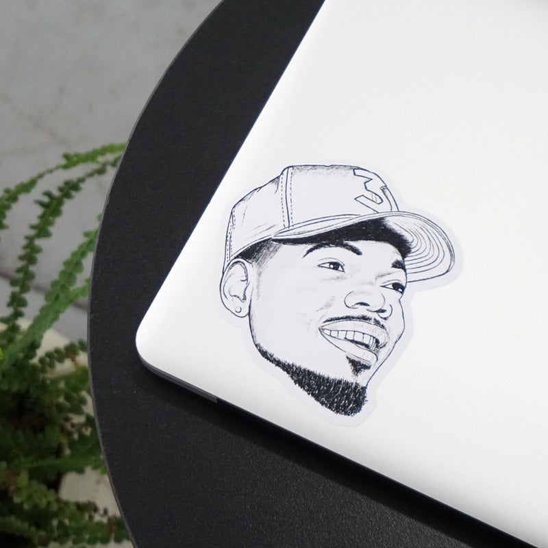 Chance The Rapper Printed Sticker
