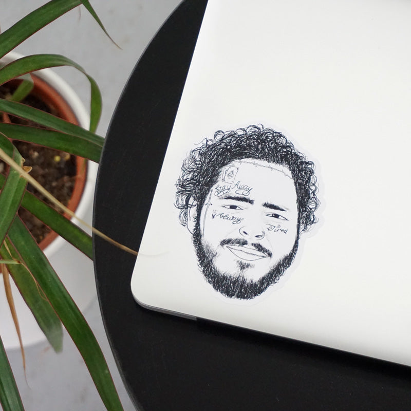 Post Malone Printed Sticker