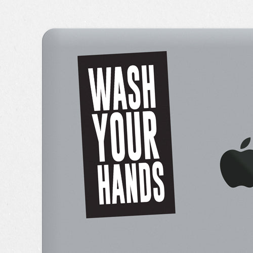 Wash Your Hands Printed Sticker