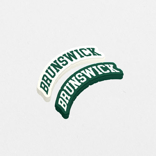 Brunswick Green College Text Sticker - 2 Designs