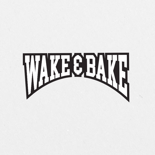 Wake & Bake Printed Sticker