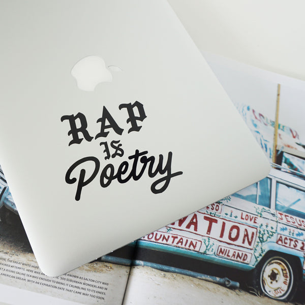 RAP IS POETRY Decal Sticker
