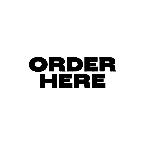 ORDER HERE Shop Counter Decal Sticker