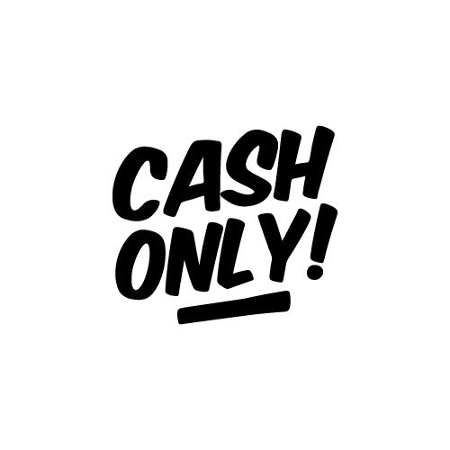 CASH ONLY Wall Decal Sticker