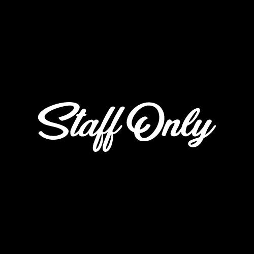 STAFF ONLY Wall Decal Sticker