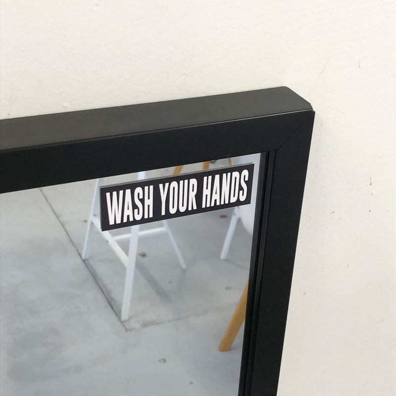 x2 Wash Your Hands 2 Printed Sticker