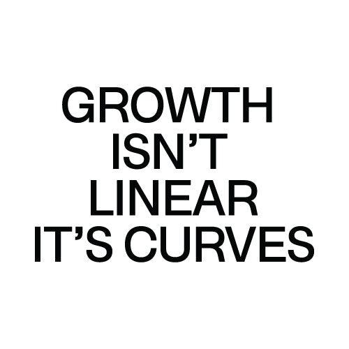 GROWTH ISN'T LINEAR Wall Decal Sticker