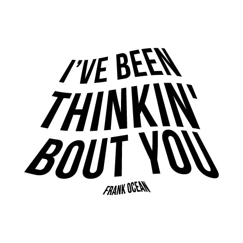 THINKIN' BOUT YOU Wall Decal Sticker