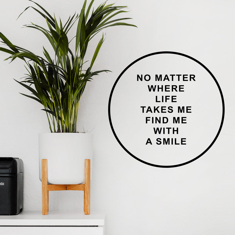 FIND ME WITH A SMILE Wall Decal Sticker