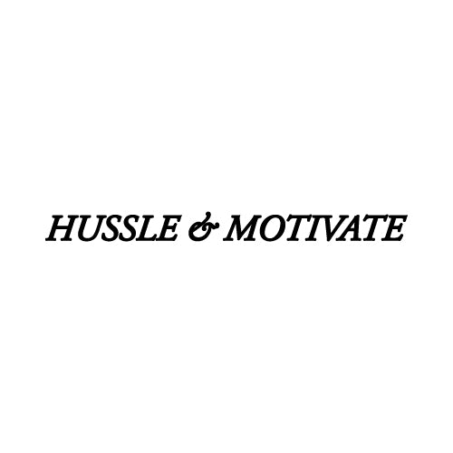 HUSSLE & MOTIVATE Wall Decal Sticker