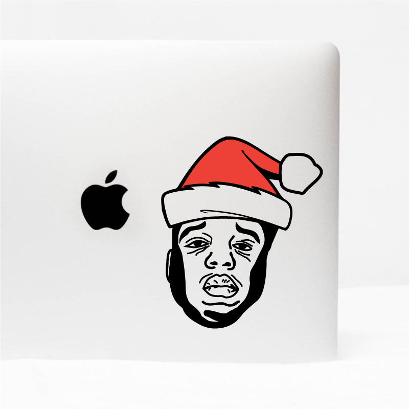 CHRISTMAS HAT NOTORIOUS BIG Decal Sticker