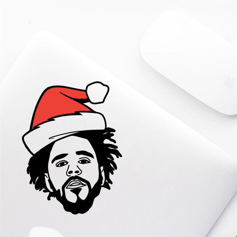 CHRISTMAS HAT J COLE Decal Sticker