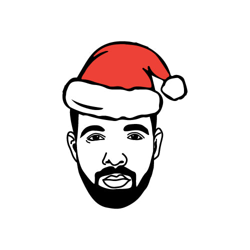 CHRISTMAS HAT DRAKE Decal Sticker
