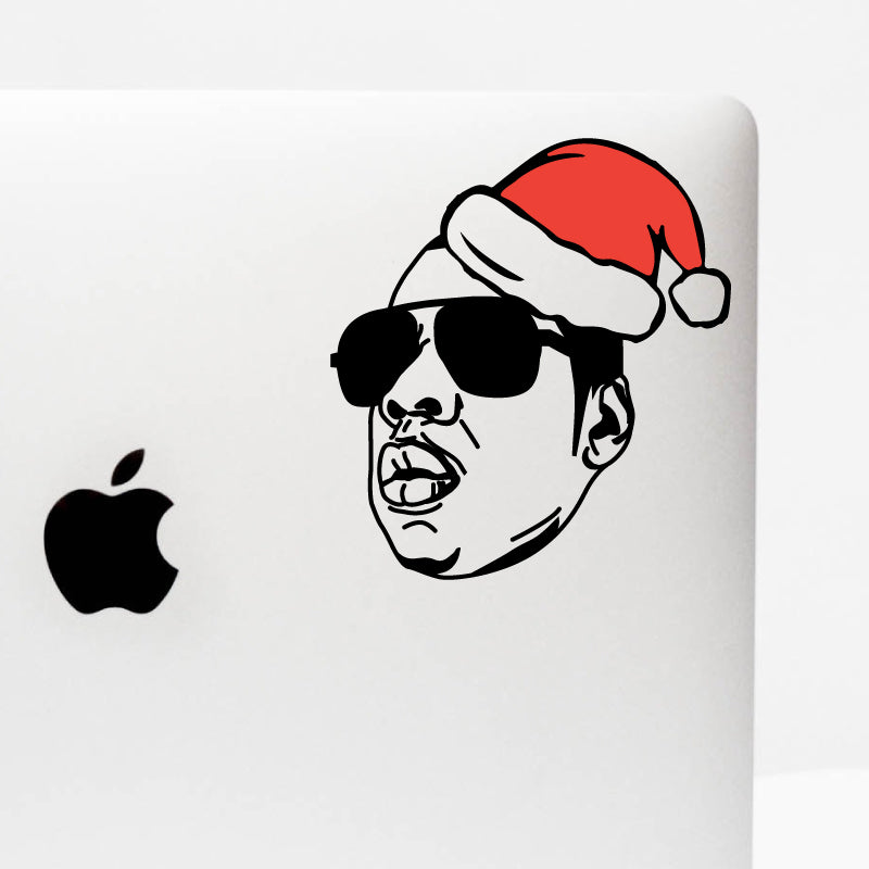 CHRISTMAS HAT JAY-Z Decal Sticker