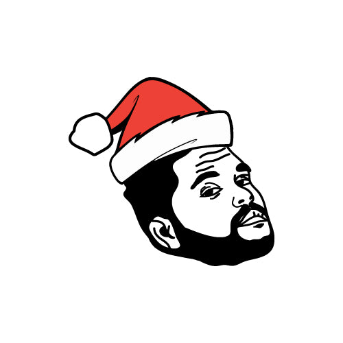 CHRISTMAS HAT THE WEEKND Decal Sticker
