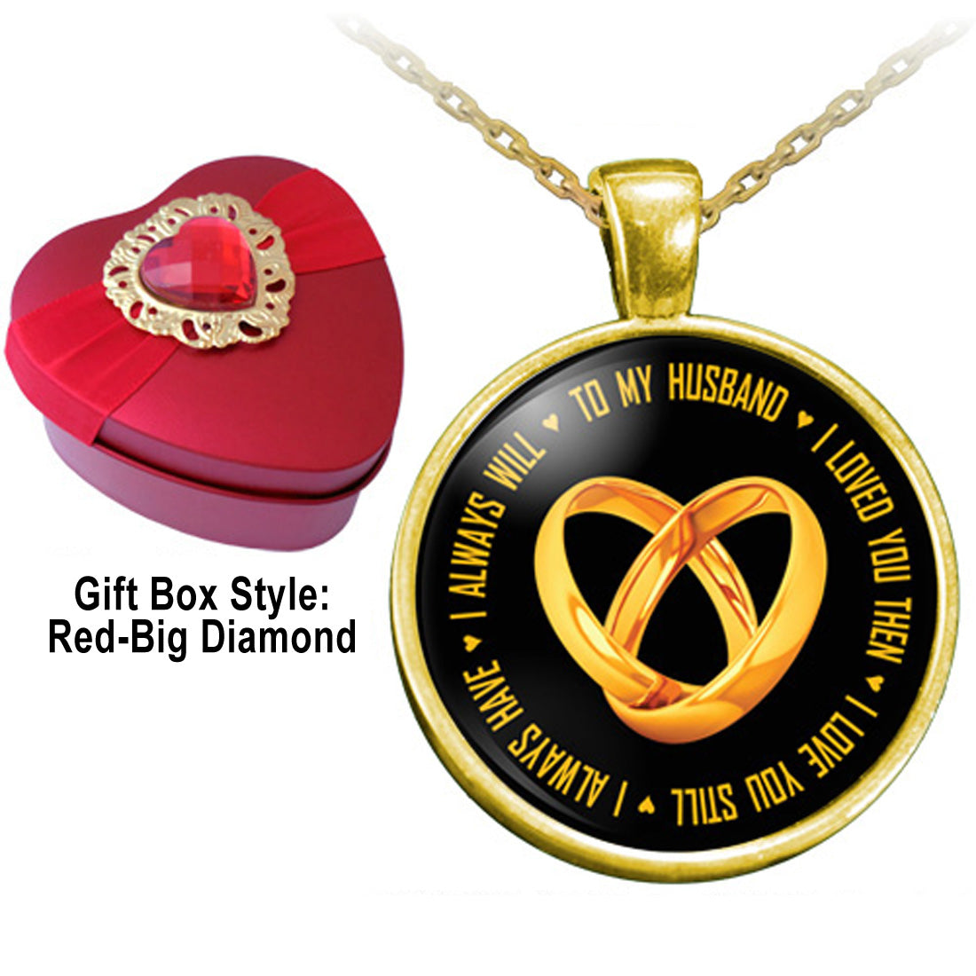 To My Husband I Love You Necklace With A Heart Shaped Gift Box Anniversary