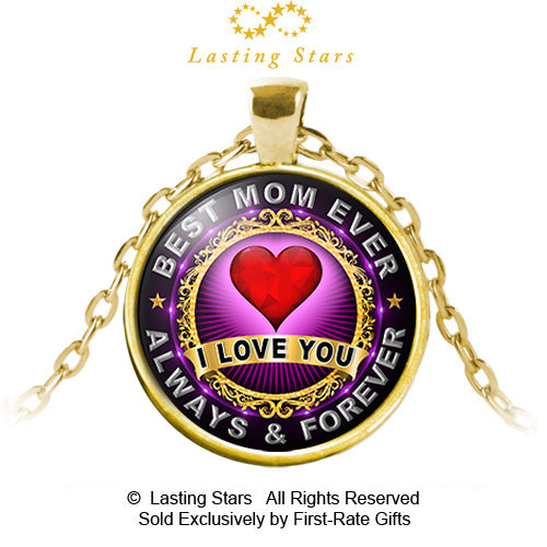 9e63019992182 Best Mom Ever Necklace I Love You Birthday Gift